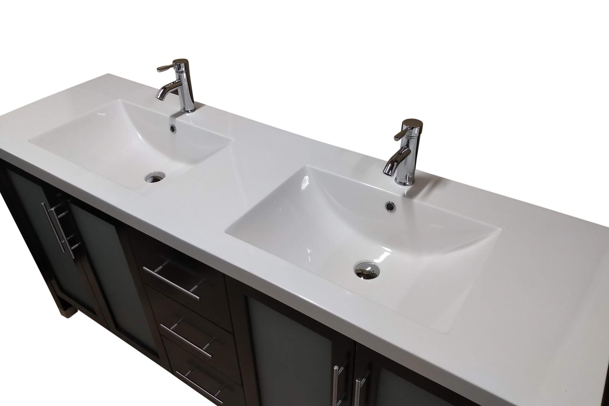 Wholesale Direct Unlimited Bathroom Vanities 72 Modern Bathroom Vanity W White Top