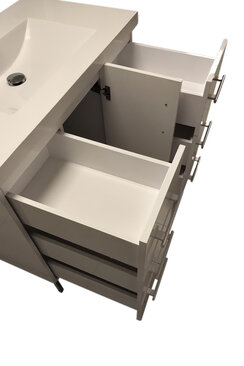 "36"" Modern Bathroom Vanity - 6 Drawers"